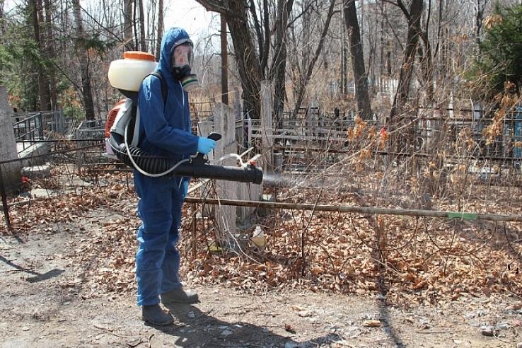 Обработка кладбищ от клещей в Новокузнецке